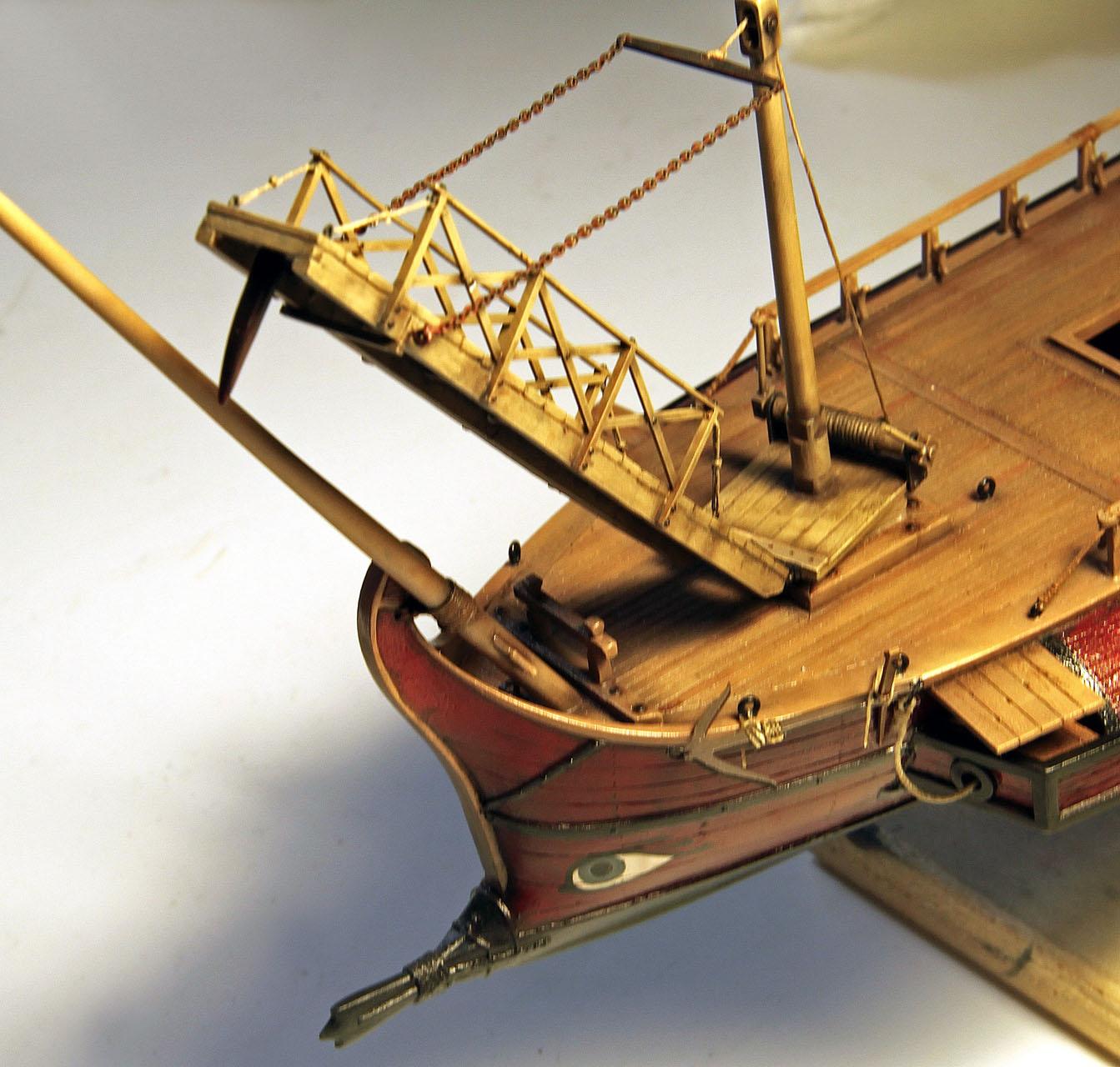 The ship model the work in progress