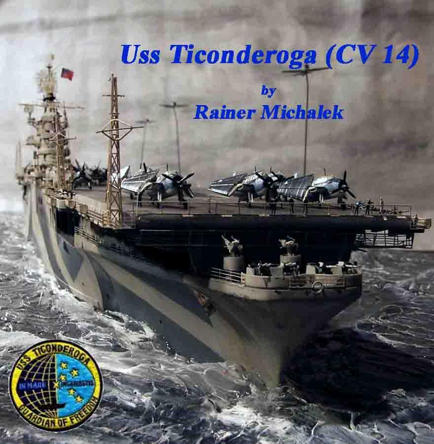 uss ticonderoga  cv 14  by rainer michalek